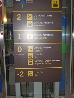 Alicante Airport Floor Plan