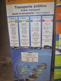 Alicante Airport Bus Timetable Information