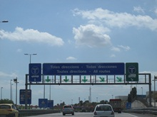 spanish toll road sign